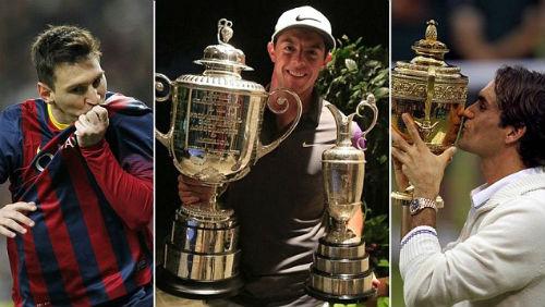 Tay golf McIlroy mơ vĩ đại như Messi và Federer - 1