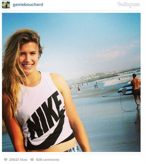Tin hot kiều nữ tennis: Bouchard đẹp rạng rỡ trên biển - 2