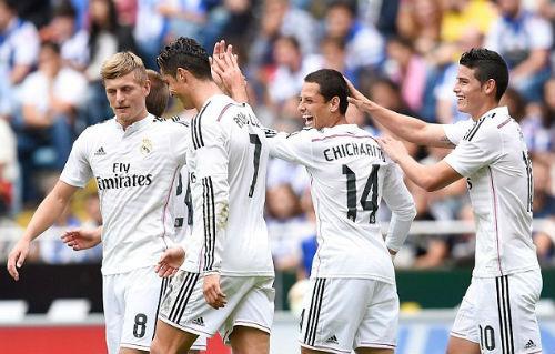 Ancelotti ngây ngất với hàng công siêu sao của Real - 1
