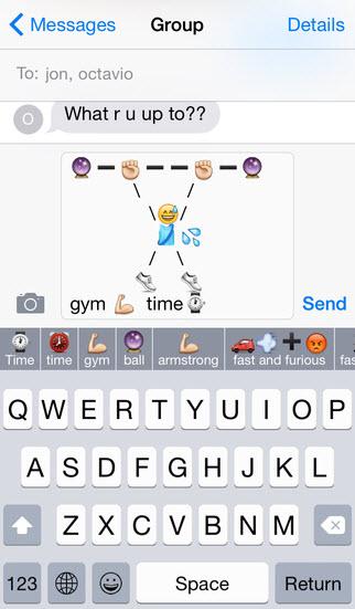 Bàn phím ảo gợi ý mặt cười ngộ nghĩnh trên iOS 8 - 5