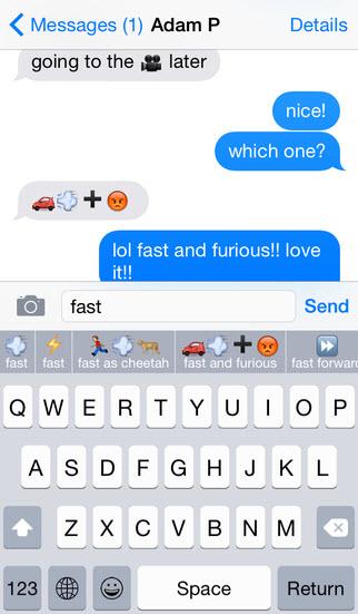 Bàn phím ảo gợi ý mặt cười ngộ nghĩnh trên iOS 8 - 6