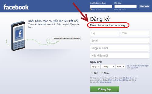 """Facebook: """"Miễn phí và sẽ luôn như vậy"""" - 2"""