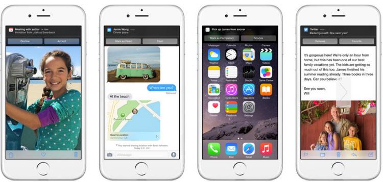 Tương tác là một trong những điểm mạnh nhất của iOS 8 khi tất cả thông báo từ tin nhắn, email, lịch hẹn,… đều có thể thao tác trên một cửa sổ nhỏ thay vì phải mở trực tiếp ứng dụng. Rất nhiều người đã phải cài các ứng dụng hỗ trợ trên iOS 7, tuy nhiên với iOS 8, điều này thực sự không cần thiết nữa.