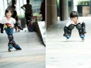 """Thể thao - """"Thiên thần"""" nhí 3 tuổi trượt patin như làm xiếc"""