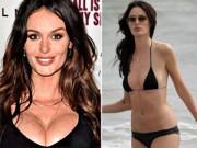 """Người mẫu """"mình dây"""" bị nghi dùng ngực giả"""