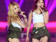 """Thời trang - Xem ca sĩ Hàn """"trị"""" chiếc quần 5cm cũn cỡn"""