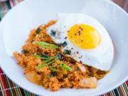 Ẩm thực - Bữa sáng siêu tốc với cơm chiên kim chi
