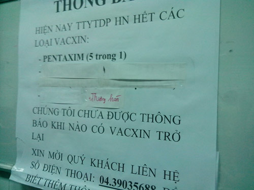 Hà Nội: Lại cháy vắc xin dịch vụ 5 trong 1 - 1