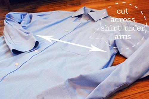 """""""Chế"""" váy xinh từ áo của chàng trong 30 phút - 2"""