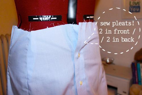 """""""Chế"""" váy xinh từ áo của chàng trong 30 phút - 3"""