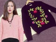 Thời trang - Áo len đẹp rút hầu bao của cô gái Hà Thành