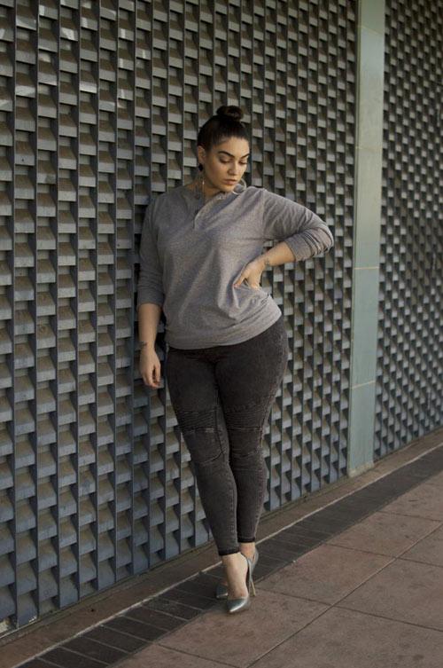 Mách nàng béo mặc quần jeans đẹp xuống phố - 3