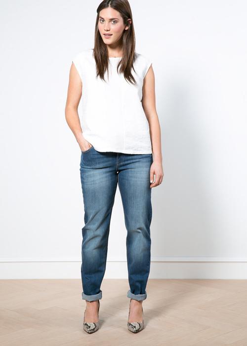 Mách nàng béo mặc quần jeans đẹp xuống phố - 8