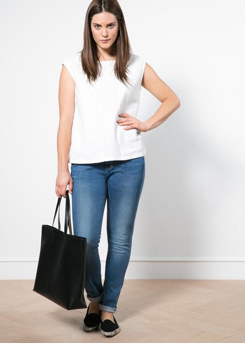 Mách nàng béo mặc quần jeans đẹp xuống phố - 7