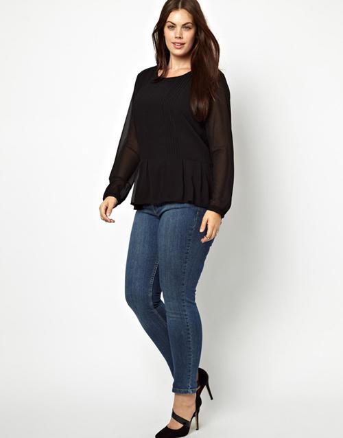 Mách nàng béo mặc quần jeans đẹp xuống phố - 2
