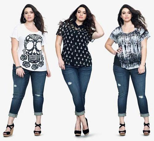Mách nàng béo mặc quần jeans đẹp xuống phố - 1