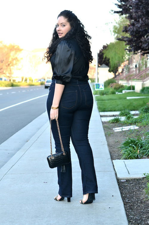 Mách nàng béo mặc quần jeans đẹp xuống phố - 5