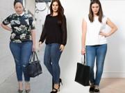 Thời trang - Mách nàng béo mặc quần jeans đẹp xuống phố