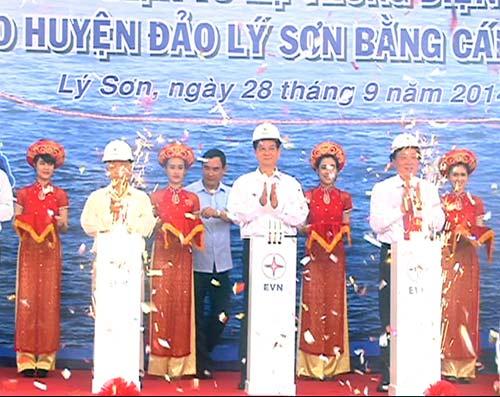 Điện cáp ngầm ra đảo Lý Sơn - 1