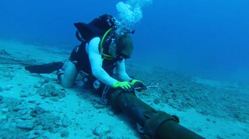 Phát hiện thêm điểm đứt mới trên cáp quang biển AAG - 1