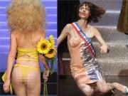 Thời trang - Gigi mặc quần lót dây, Coco Rocha xỉu trên sàn diễn