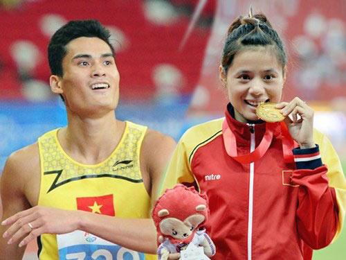 Hạnh phúc của cặp đôi Vàng điền kinh VN - 1