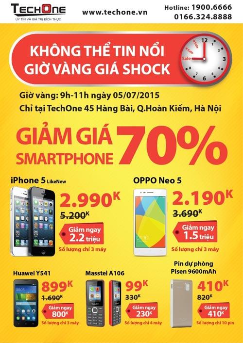 Giờ vàng TechOne tại Hàng Bài giảm giá smartphone tới 70% - 2