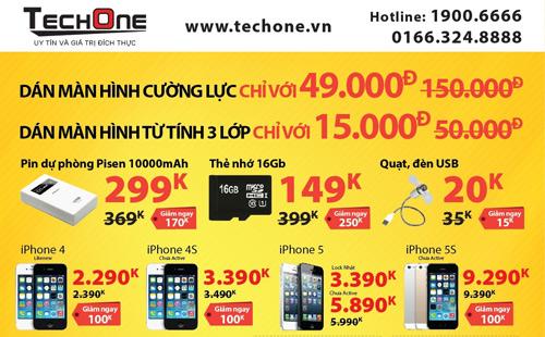 Giờ vàng TechOne tại Hàng Bài giảm giá smartphone tới 70% - 3