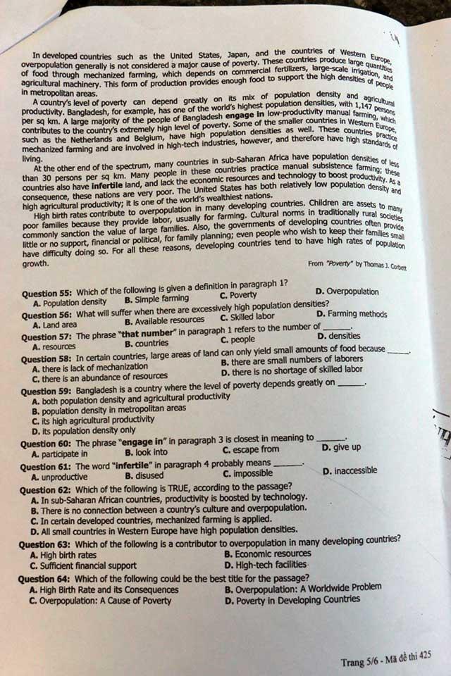 Đề thi Tiếng Anh không lắt léo nhưng khó đạt điểm 10 - 6