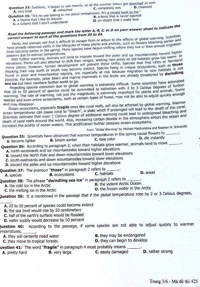 Đề thi Tiếng Anh không lắt léo nhưng khó đạt điểm 10 - 4