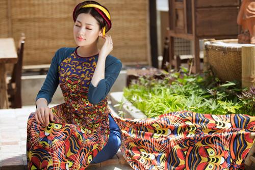 """Á hậu Tú Anh """"hóa"""" cô Tấm với áo dài dân tộc - 5"""