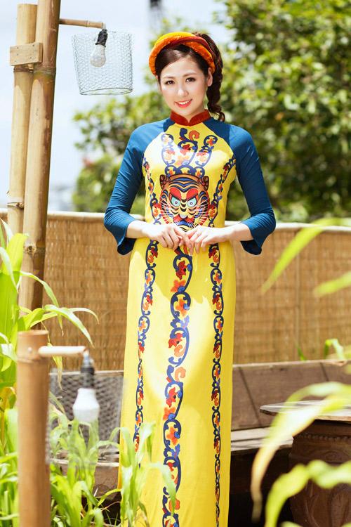 """Á hậu Tú Anh """"hóa"""" cô Tấm với áo dài dân tộc - 3"""