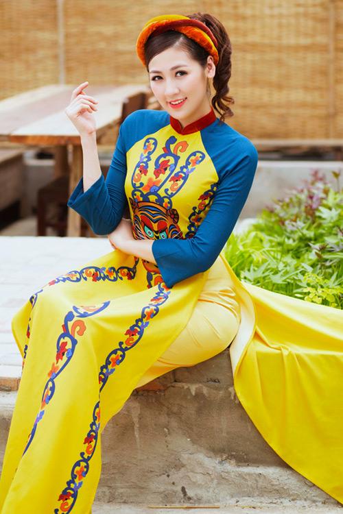 """Á hậu Tú Anh """"hóa"""" cô Tấm với áo dài dân tộc - 2"""