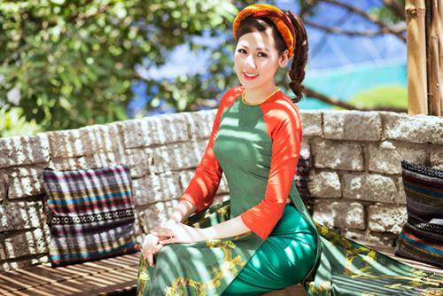 """Á hậu Tú Anh """"hóa"""" cô Tấm với áo dài dân tộc - 7"""