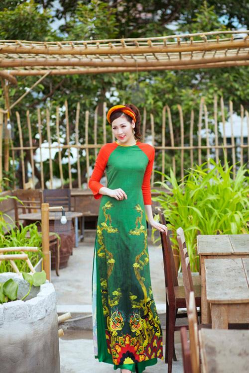 """Á hậu Tú Anh """"hóa"""" cô Tấm với áo dài dân tộc - 8"""