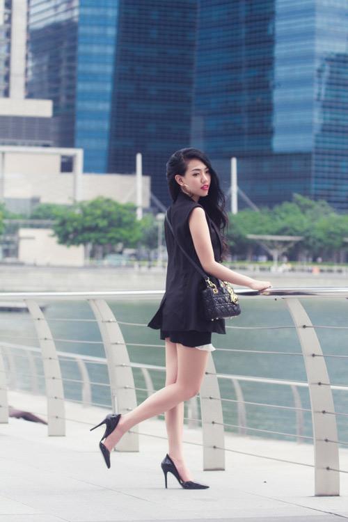 Joxy Thùy Linh khoe bộ ảnh mới trong chuyến công tác tại Singapore - 10