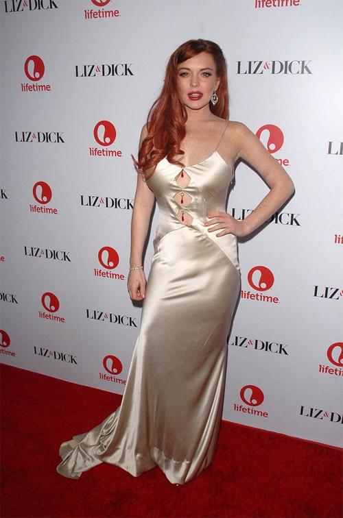"""""""Gái hư"""" Lindsay Lohan xập xệ như U50 ở tuổi 28 - 3"""