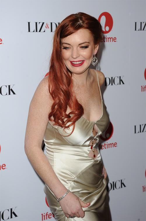 """""""Gái hư"""" Lindsay Lohan xập xệ như U50 ở tuổi 28 - 4"""
