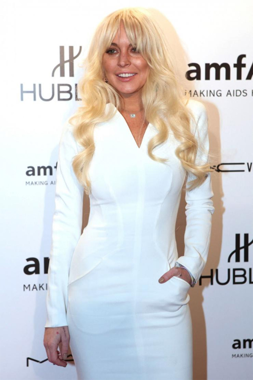 """""""Gái hư"""" Lindsay Lohan xập xệ như U50 ở tuổi 28 - 6"""