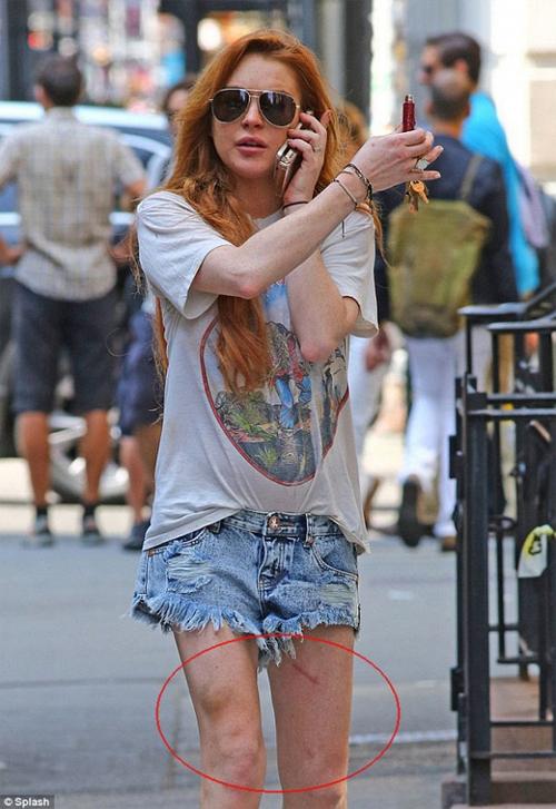 """""""Gái hư"""" Lindsay Lohan xập xệ như U50 ở tuổi 28 - 16"""