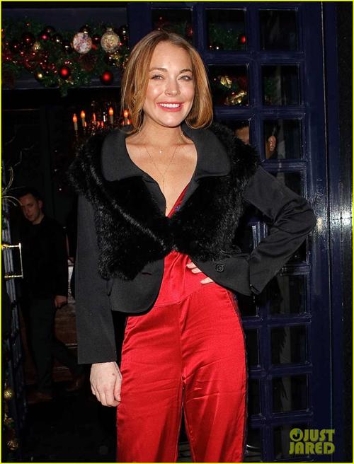 """""""Gái hư"""" Lindsay Lohan xập xệ như U50 ở tuổi 28 - 14"""