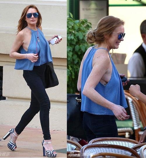 """""""Gái hư"""" Lindsay Lohan xập xệ như U50 ở tuổi 28 - 17"""