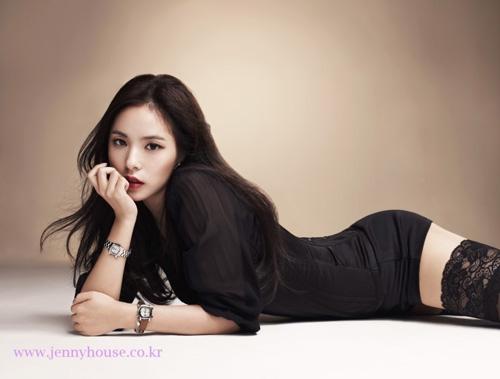 Vẻ nóng bỏng của bạn gái mỹ nam hot nhất nhì Hàn Quốc - 7