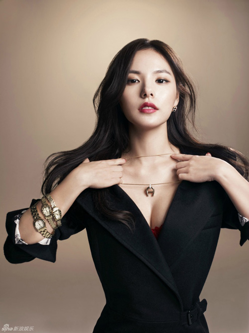 Vẻ nóng bỏng của bạn gái mỹ nam hot nhất nhì Hàn Quốc - 9
