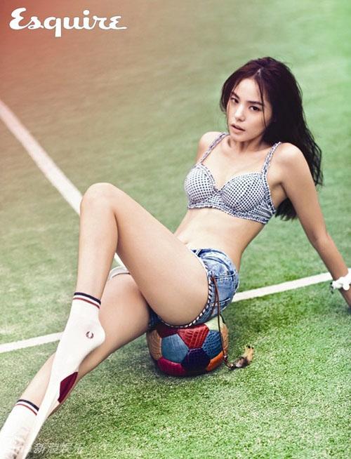 Vẻ nóng bỏng của bạn gái mỹ nam hot nhất nhì Hàn Quốc - 12