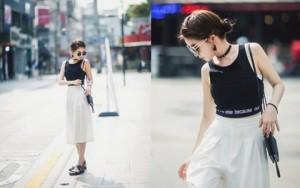 Cách mặc áo hở eo không bị…hở