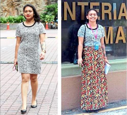 Hàng loạt phụ nữ Malaysia bị xua đuổi vì mặc váy ngắn - 1