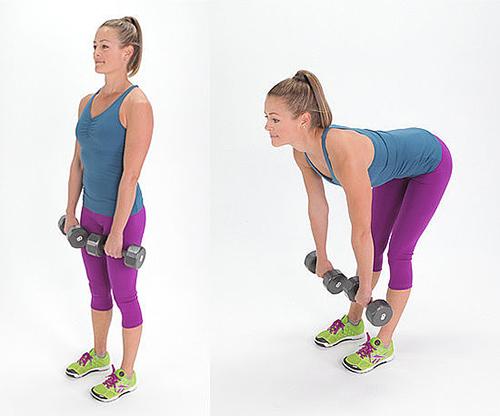 5 bài tập với tạ tay giúp chân thon, mông đẹp - 5