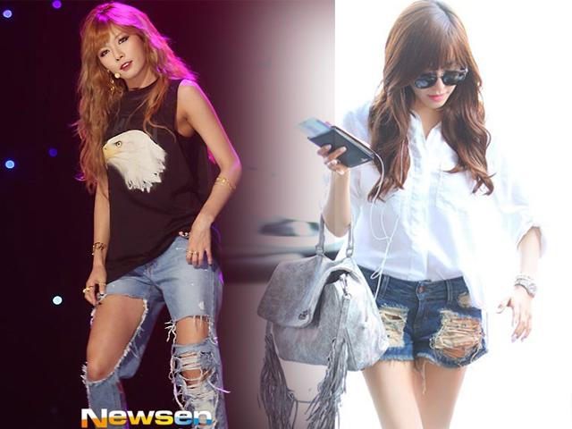 """Soi thời trang quần """"cái bang"""" của sao Hàn"""