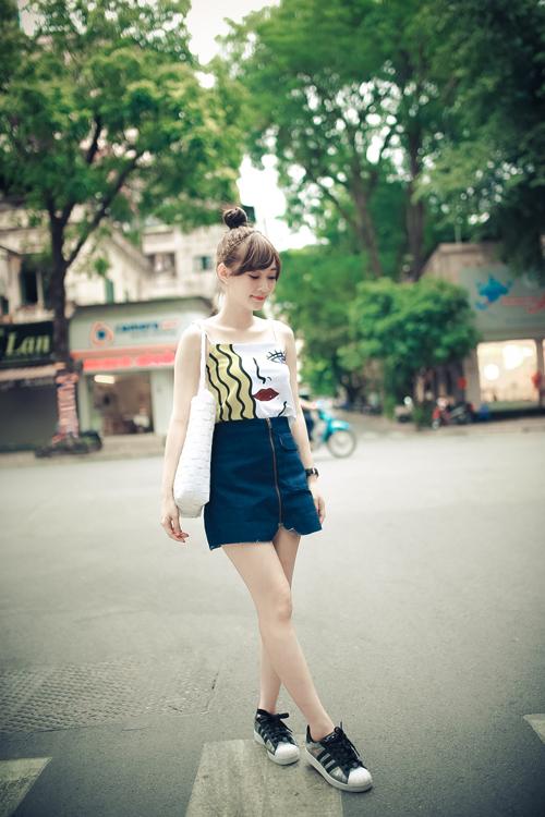 Thiếu nữ Hà thành nổi bật với phong cách sành điệu - 1